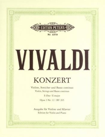 Concerto: E Major: Op3: 12: Violin and Piano (Peters)