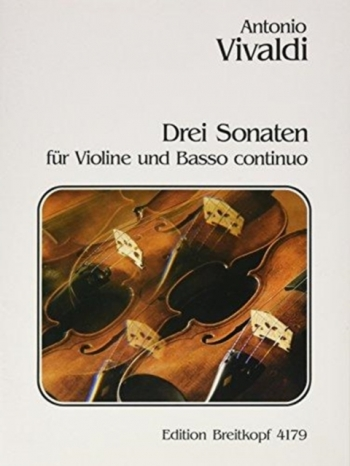 Sonatas 3: Violin and Piano (Breitkopf)
