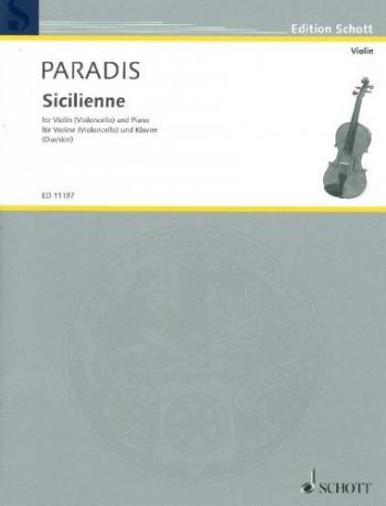 Sicilienne: Violin Or Cello and Piano