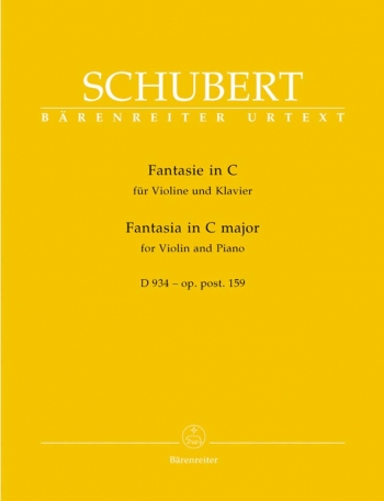 Fantasia: C Major: D934: Violin and Piano  (Barenreiter)