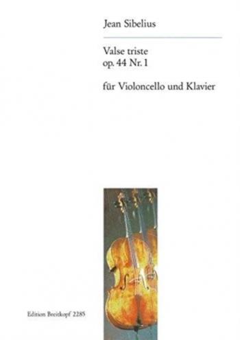 Valse Triste Op44 No.1: Cello & Piano (Breitkopf)