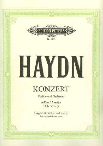 Concerto: A Major: Violin and Piano (Peters)