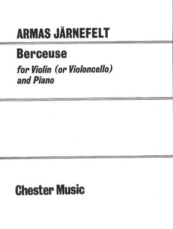 Berceuse: Berceuse: Violin Or Cello & Piano (Chesters)