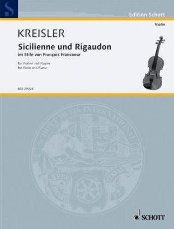 Sicilienne Und Rigaudon: Violin and Piano