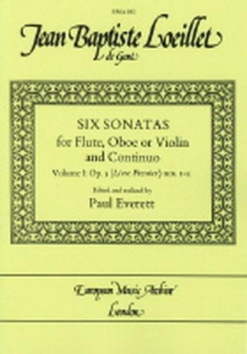 6 Sonatas Op5: Vol 1:Flute Or Violin & Piano Edited By Paul Everett
