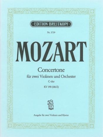 Concerto: C Major: Kv190: Violin and Piano (Breitkopf)