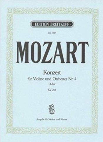 Concerto: D Major: No4: Kv218: Violin and Piano (Breitkopf)