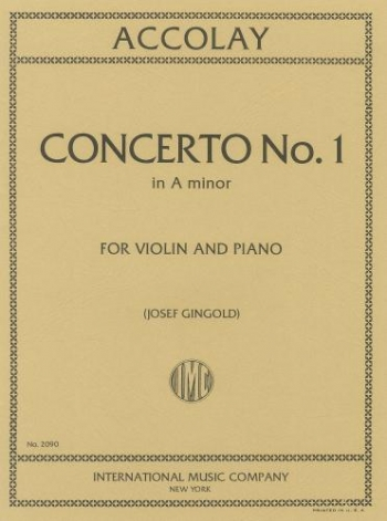 Violin Concerto A Minor No.1: Violin & Piano (International)