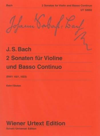 2 Sonatas: Bwv1021 And1023: Violin & Piano  (Wiener Urtext)
