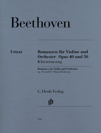 2 Romances: G Major and F Major: Op 40 and Op50: Violin & Piano (Henle)