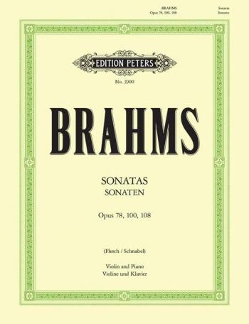 Sonata Op78,100,108: Violin  & Piano (Peters)