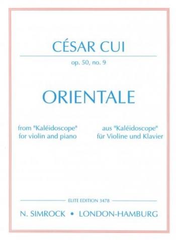 Orientale: Op50 No9: Violin and Piano