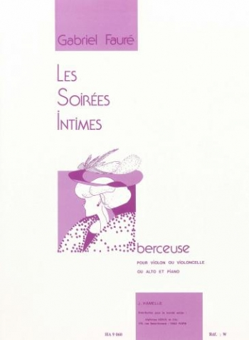 Les Soirees Intimes: Berceuse: Violin and Piano