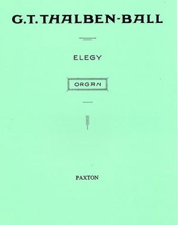 Elegy: Organ (Novello)