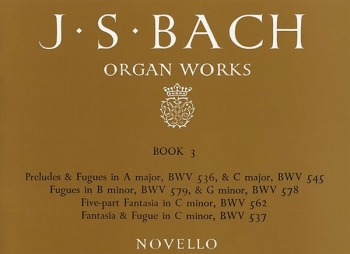 Organ Works Book 3: Fantasias Preludes And Fugues (Novello)