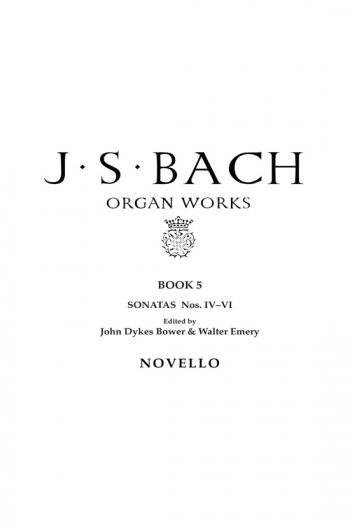 Organ Works Book 5: Sonatas 4-6: Organ (Novello)