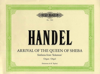 Arrival Of The Queen Of Sheba: Organ  (Peters)