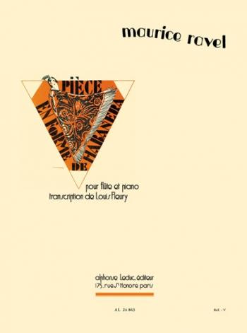 Piece En Forme De Habanera Flute and Piano (Leduc)