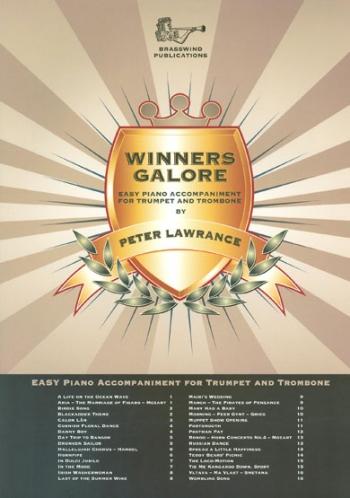 Winners Galore: Treble Brass For Trumpet And Trombone Piano Accompaniment