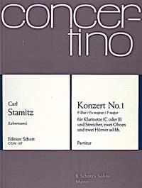 Clarinet Concerto: No 1 In F: Miniature Score