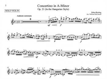 Concertino A Minor Op.21: Hungarian Style: Violin & Piano (Bosworth)