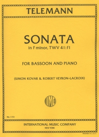 Sonata In F Minor: Bassoon & Piano (International)