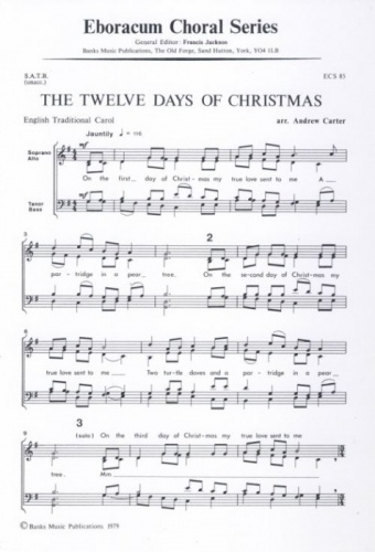 The 12 Days Of Christmas: Vocal SATB