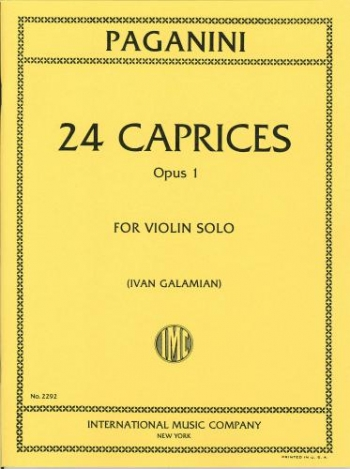 24 Caprices: Op1: Violin Solo( International)