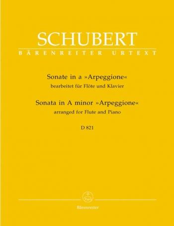 Sonata: A Minor Arpeggione: Flute   (Barenreiter)
