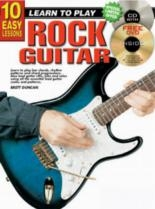 10 Easy Rock Guitar Lessons Teach Yourself: Book & CD & DVD