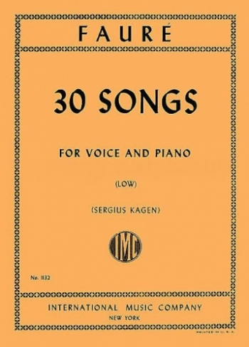30 Songs: Vocal: Low Voice & Piano  (International)