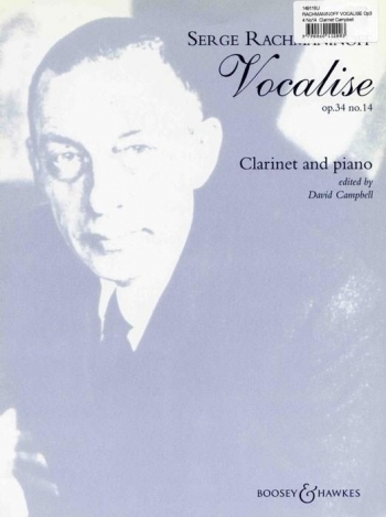 Vocalise Op34 No.14: Clarinet & Piano