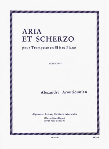 Aria Et Scherzo: Trumpet and Piano