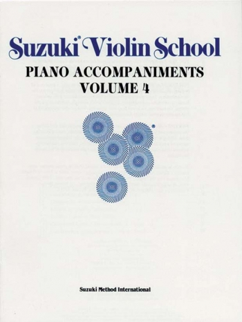 Suzuki Violin School Vol. 4 Violin Piano Accompaniment (Revised)