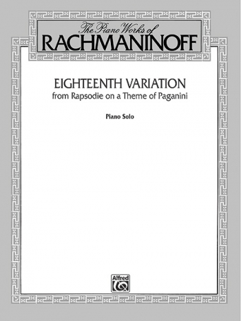 18th Variation From Rhapsody On A Theme Of Paganini; Piano Ed. Eichhorn (Alfred)
