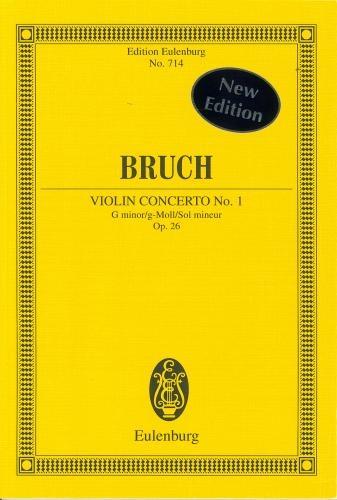 Violin Concerto No.1 G Minor Op26: Violin: Miniature Score (Eulenburg)