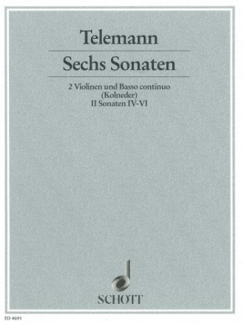 Sonatas 6: Vol 2: 2 Violins And Piano