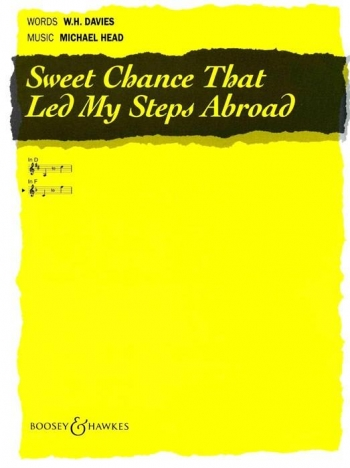 Sweet Chance That Led My Steps Abroad: F Maj: Vocal: Solo Song