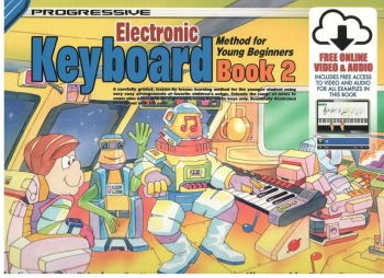 Progressive Keyboard Method For Young Beginners Book 2 (A5) Book & Online Video & Audio