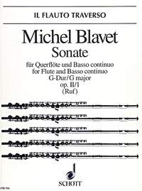 Flute Sonata G Major: Op.II No1: Flute & Piano (Schott)