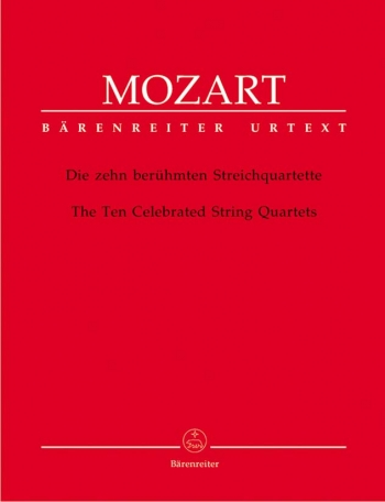 10 Celebrated String Quartets: String Quartet: Parts Only (Barenreiter)