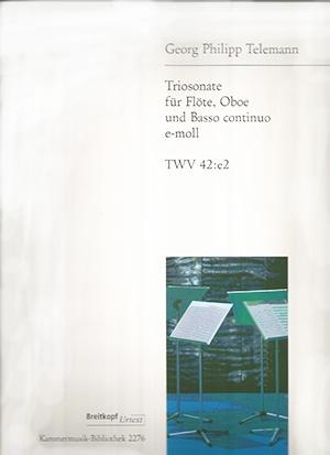 Trio Sonata E Minor: Flute (Breitkopf)