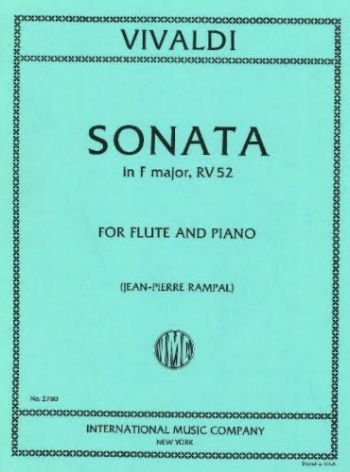 Sonata: F Major: Flute & Piano (International)