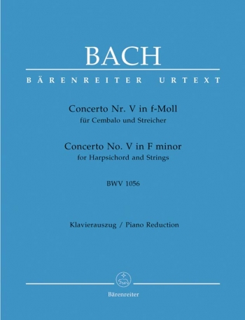 Concerto F Minor No.5: Piano  (Barenreiter)
