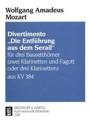 Divertimento The Escape From The Seraglio: 2 Or 3 Clarinet
