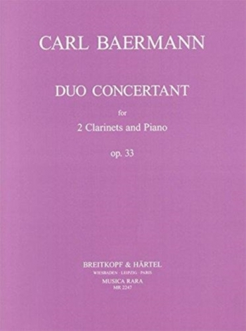 Duo Concertant Op33:  2 Clarinets And Piano: Duet