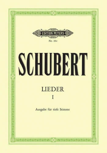 Lieder (Songs) Vol.1 92 Songs Low Voice & Piano (Peters)