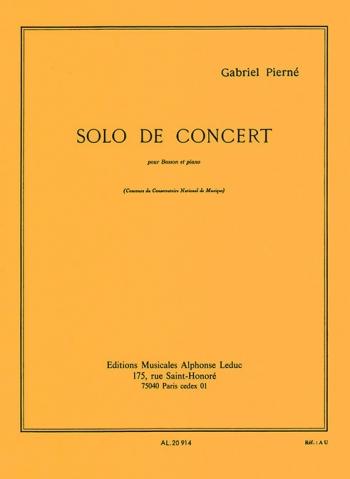 Solo De Concert Op35: Bassoon (Leduc)