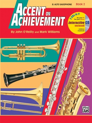 Accent On Achievement: Book 2: Alto Saxophone: Book And Cd