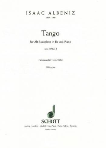 Tango Op1.65/2: Alto Saxophone
